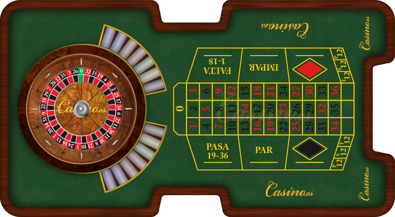 Mesa Ruleta Francesa
